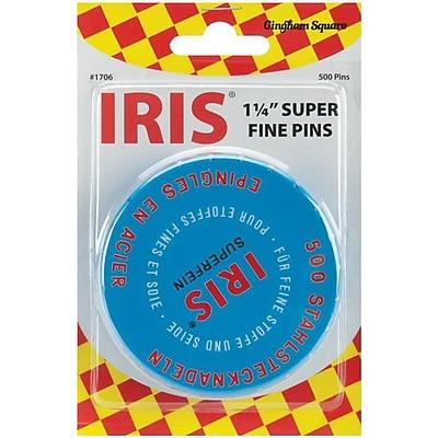 Euro-Notions Iris Swiss Super Fine Pins 1-1/4
