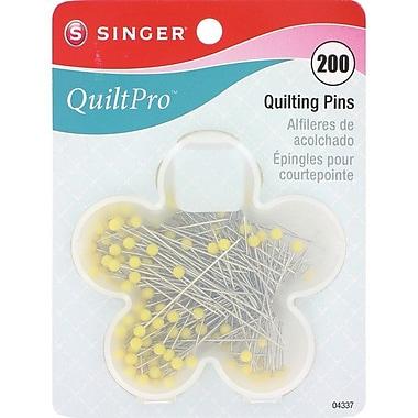 Singer QuiltPro Quilting Pins In Flower Case 1-3/4