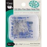 "Dritz Ultra-Fine Glass Head Pins 1-3/8"", 150/Pack"