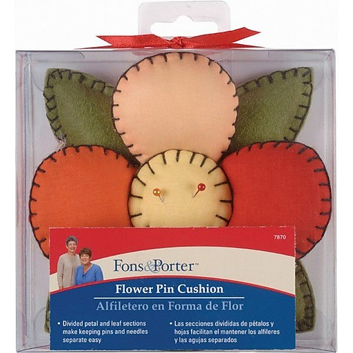 Fons & Porter Novelty Pin Cushion, Flower