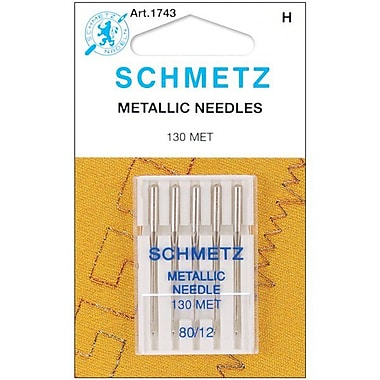 Euro-Notions Metallic Machine Needles, Size 12/80, 5/Pack