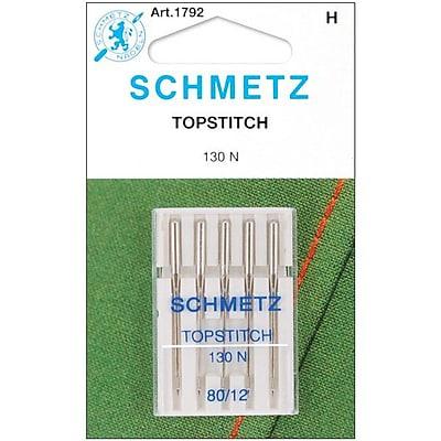 Euro-Notions Topstitch Machine Needle, Size 12/80, 5/Pack