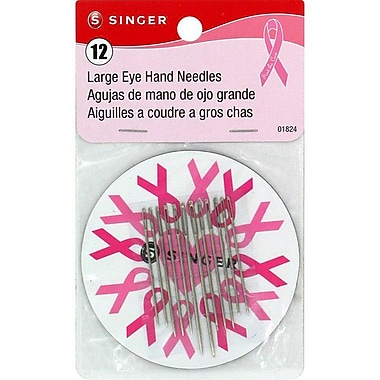 Singer Large Eye Hand Needles, Assorted Sizes, 12/Pack