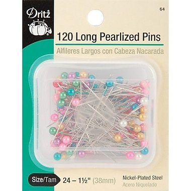 Dritz Long Pearlized Pins, Size 24, 120/Pack