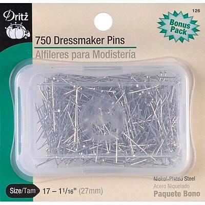 Dritz Dressmaker Pins, Size 17, 750/Pack