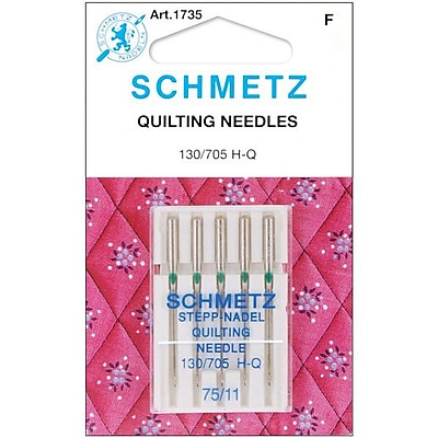 Euro-Notions Quilt Machine Needles, Size 75/11, 5/Pack