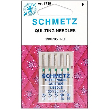 Euro-Notions Quilt Machine Needles, Assorted Sizes, 5/Pack