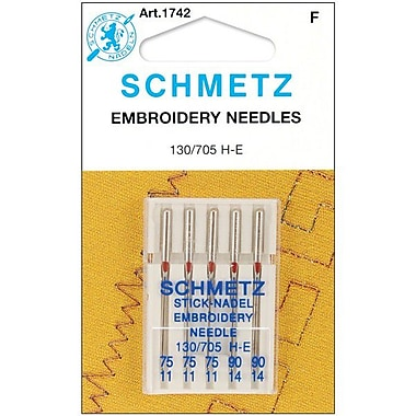 Embroidery Machine Needles-3-75, 2-90 5/Pkg