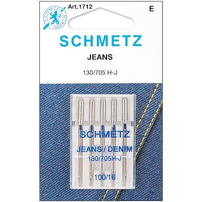 Euro-Notions Jean & Denim Machine Needles, Size 16/100, 5/Pack