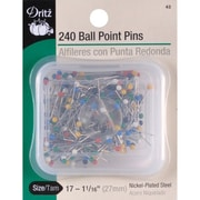 Dritz Color Ball Point Pins, Size 17, 240/Pack