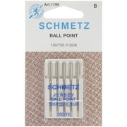 Euro-Notions Ball Point Jersey Machine Needles, Size 16/100, 5/Pack