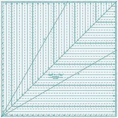 Quilt In A Day Square Up Ruler, 22