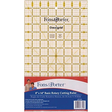 Fons & Porter Rotary Cutting Ruler, 8