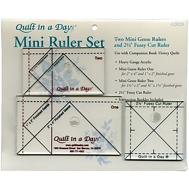 Quilt In A Day Ruler Set, 3 Pieces