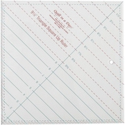 """Quilt In A Day Triangle Square Up Ruler, 9-1/2""""X9-1/2"""""""