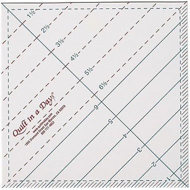 Quilt In A Day Triangle Square Up Ruler, 6-1/2