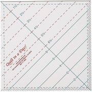 """Quilt In A Day Triangle Square Up Ruler, 6-1/2""""X6-1/2"""""""