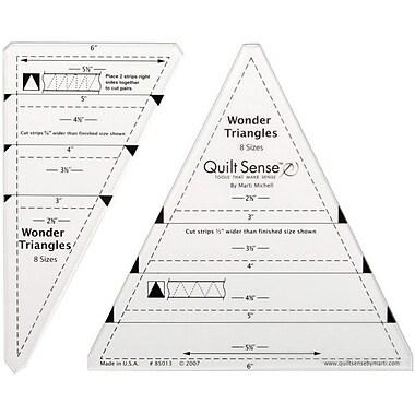 Quilt Sense Wonder Triangles Ruler, 8 Sizes