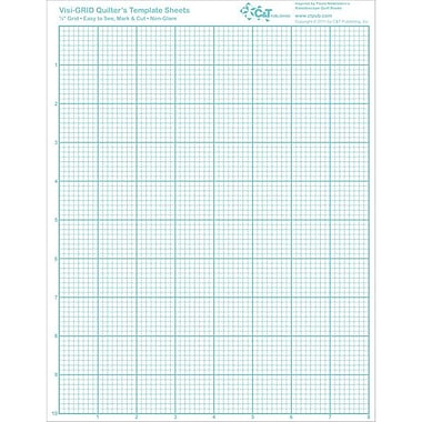 Visi-GRID Quilter's Template Sheets, 8-1/2