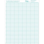 "Visi-GRID Quilter's Template Sheets, 8-1/2""X11"", 4/Pkg"