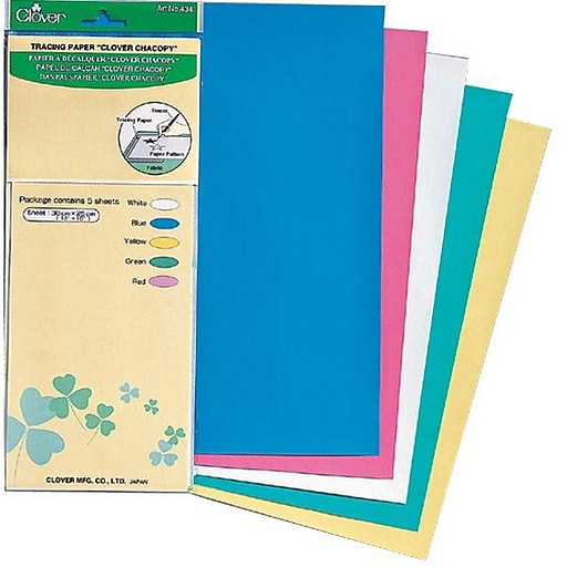 """Chacopy Tracing Paper, 12""""X10"""", 5/Pkg"""