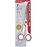 """Singer 00446 Sharp Tip 7"""" Salon Shears, Red/White"""