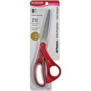 """Singer 00508 Sharp Tip 8.5"""" Multi Purpose Scissors, Red"""