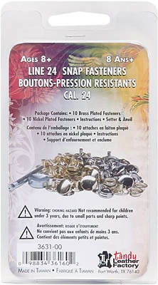 Tandy Leather Factory 3631 Multi Color Easy-To-Do Line 24 Snaps and Setter