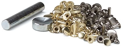 Tandy Leather Factory 3635 Multi Color Easy-To-Do Rivets and Setter
