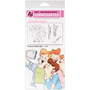 "Art Impressions Girlfriends 10"" x 4 1/2"" Cling Stamp, Picture Perfect Set"