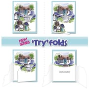 """Art Impressions Try'folds 10"""" x 4 1/2"""" Cling Stamp, Cottage TF"""