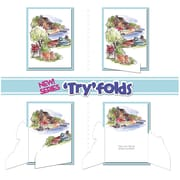 """Art Impressions Try'folds 10"""" x 4 1/2"""" Cling Stamp, Lakehouse TF"""