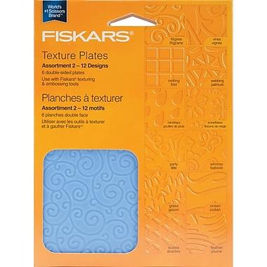 Fiskars® Double Sided Assortment II Texture Plate, 6/Pack