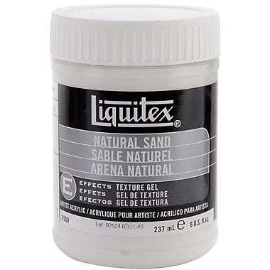 Reeves Liquitex Non-toxic 8 oz. Natural Sand Acrylic Texture Gel (6508)