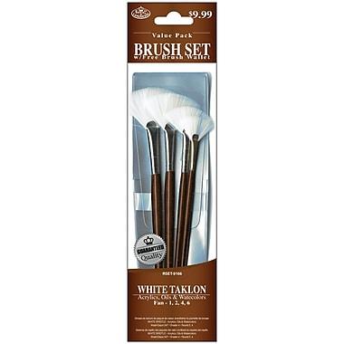Royal Brush 4 PC White Taklon Brush Set