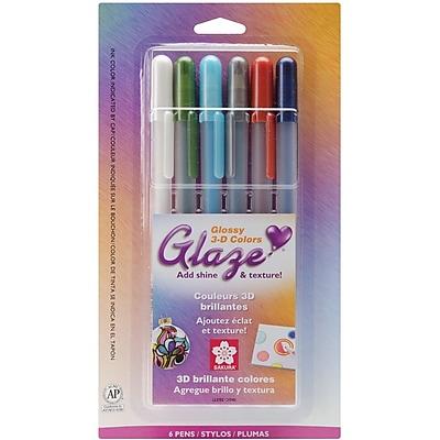 Sakura® 6 Piece Gelly Roll 3 Dimensional Glaze Pens