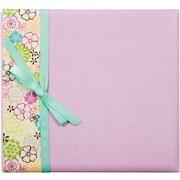 "Colorbok® Postbound Album With Ribbon, 12"" x 12"", Lavendar Floral"