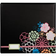 "Colorbok® 12"" x 12"" Postbound Album With Label Holder, Black Floral"