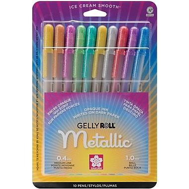 Sakura® 10 Piece Metallic Gelly Roll Medium Point Pen