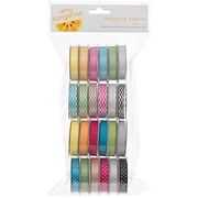 American Crafts 58817 Assorted Amy Tangerine Sketchbook Premium Ribbon, 4', 24/Pack