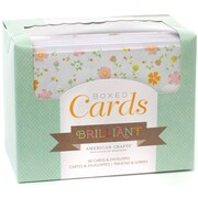 "American Crafts™ 40 Piece Brilliant 4"" x 6"" Boxed Cards and Envelopes"