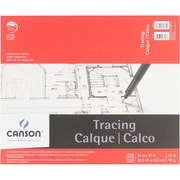 "Canson 702323 White Foundation Series Tracing Paper Pad, 17"" x 14"""