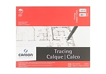 Canson 702323 White Foundation Series Tracing Paper Pad, 17' x 14'