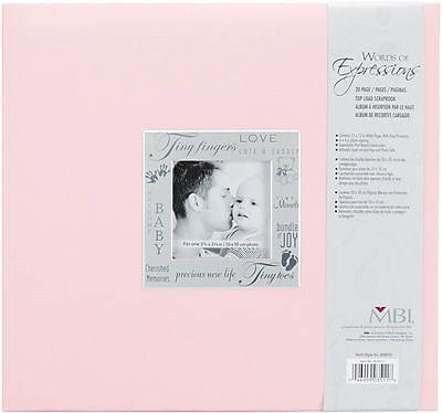 MBI® Expressions Fabric Cover Postbound Album With Window, 12