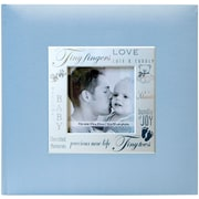 """MBI® 8 1/2"""" x 8 1/2"""" Fabric Expressions Photo Album With 200 Pockets, Baby Blue"""
