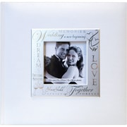 "MBI® 8 1/2"" x 8 1/2"" Fabric Expressions Photo Album With 200 Pockets, Wedding White"