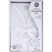 "Wilton® 9"" x 6"" x 2 1/4"" Infinity Invitation Kit, 25/Pack"