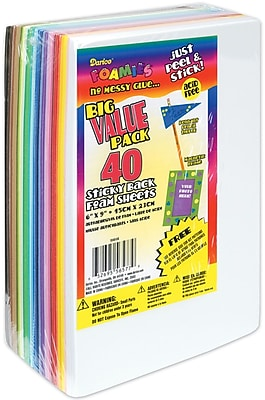 Darice 1040-56 Assorted Sticky Back Sheets, 9