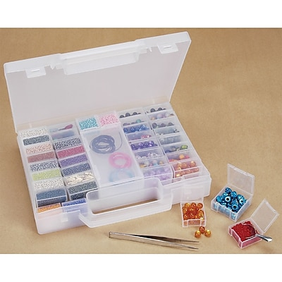 Darice® Bead Organizer Carrying Case, Clear