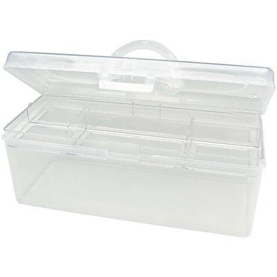Darice® Plastic Craft Hobby Tote, Clear